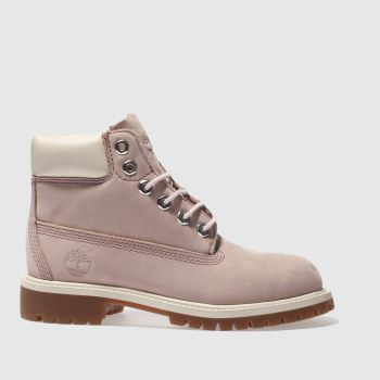 TIMBERLAND PALE PINK 6 INCH CLASSIC GIRLS JUNIOR BOOTS