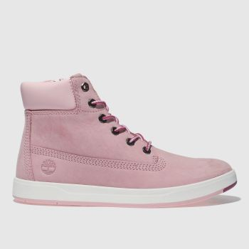 Timberland Pale Pink Davis Square 6inch Girls Junior