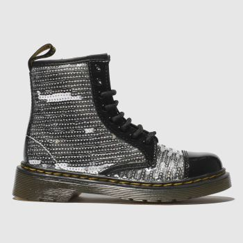 Dr Martens Silver 1460 Pooch Sequin Girls Junior