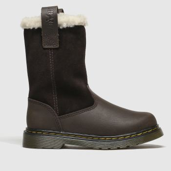 Dr Martens Dark Brown Juney c2namevalue::Girls Junior
