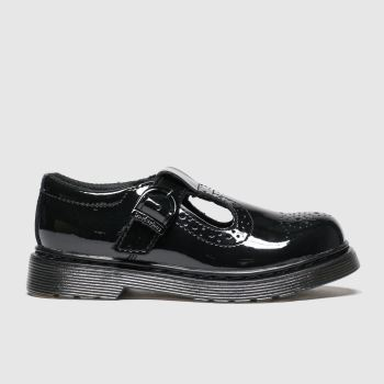 Dr Martens Black Polley Brogue Girls Junior