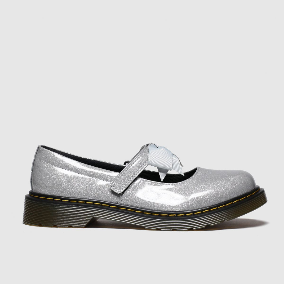 Dr Martens Silver Maccy Ii Glitter Shoes Junior