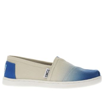 TOMS BLUE CLASSIC GIRLS JUNIOR SHOES