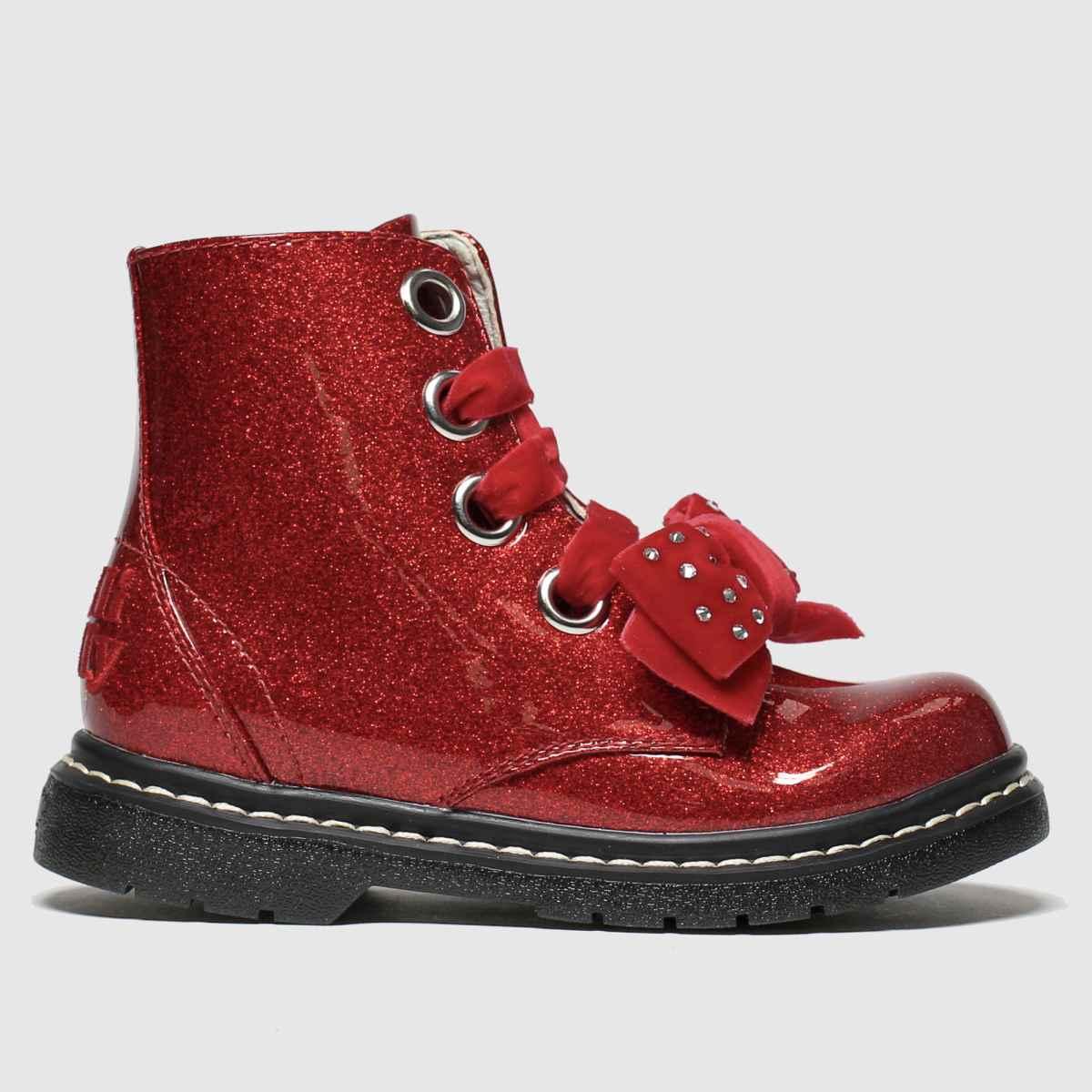 Lelli Kelly Red Fior Di Fiocco Boots Junior