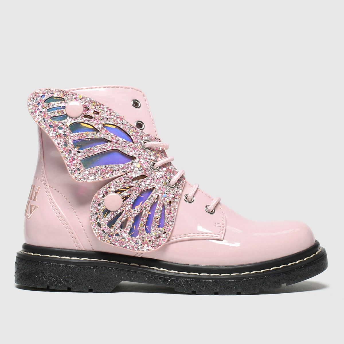 Lelli Kelly Pale Pink Fairy Wings Mid Boots Junior