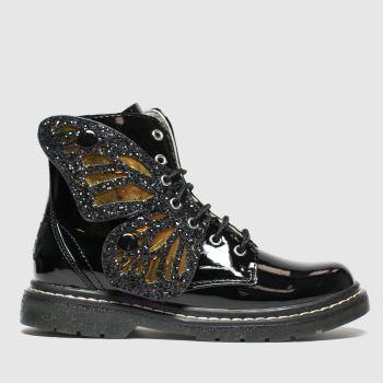 Lelli Kelly black fairy wings mid boots junior