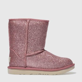 Ugg Pink Classic Short Ii Glitter Girls Junior