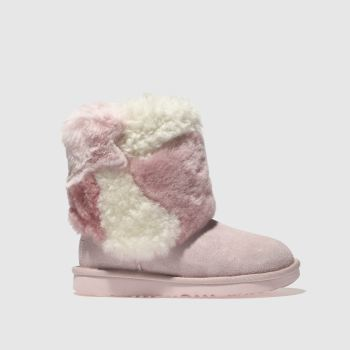Ugg Pale Pink Classic Short Ii Patchwork Girls Junior