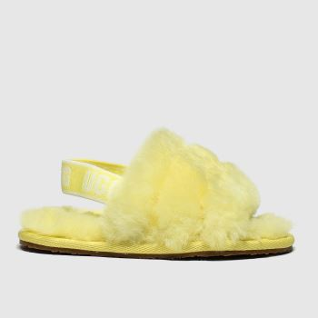 Ugg Yellow Fluff Yeah Slide Girls Junior
