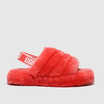 Ugg Orange Fluff Yeah Slide Girls Junior