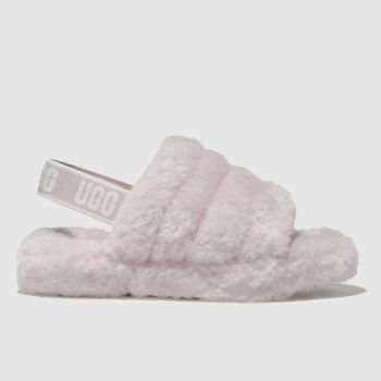 UGG PALE PINK FLUFF YEAH SLIDE BOOTS JUNIOR