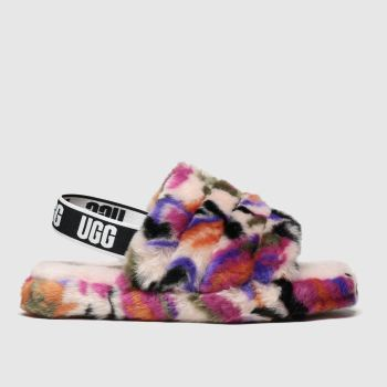 Ugg Multi Fluff Yeah Slide Girls Junior