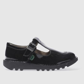 Kickers Black Kick T-bar Girls Junior from Schuh