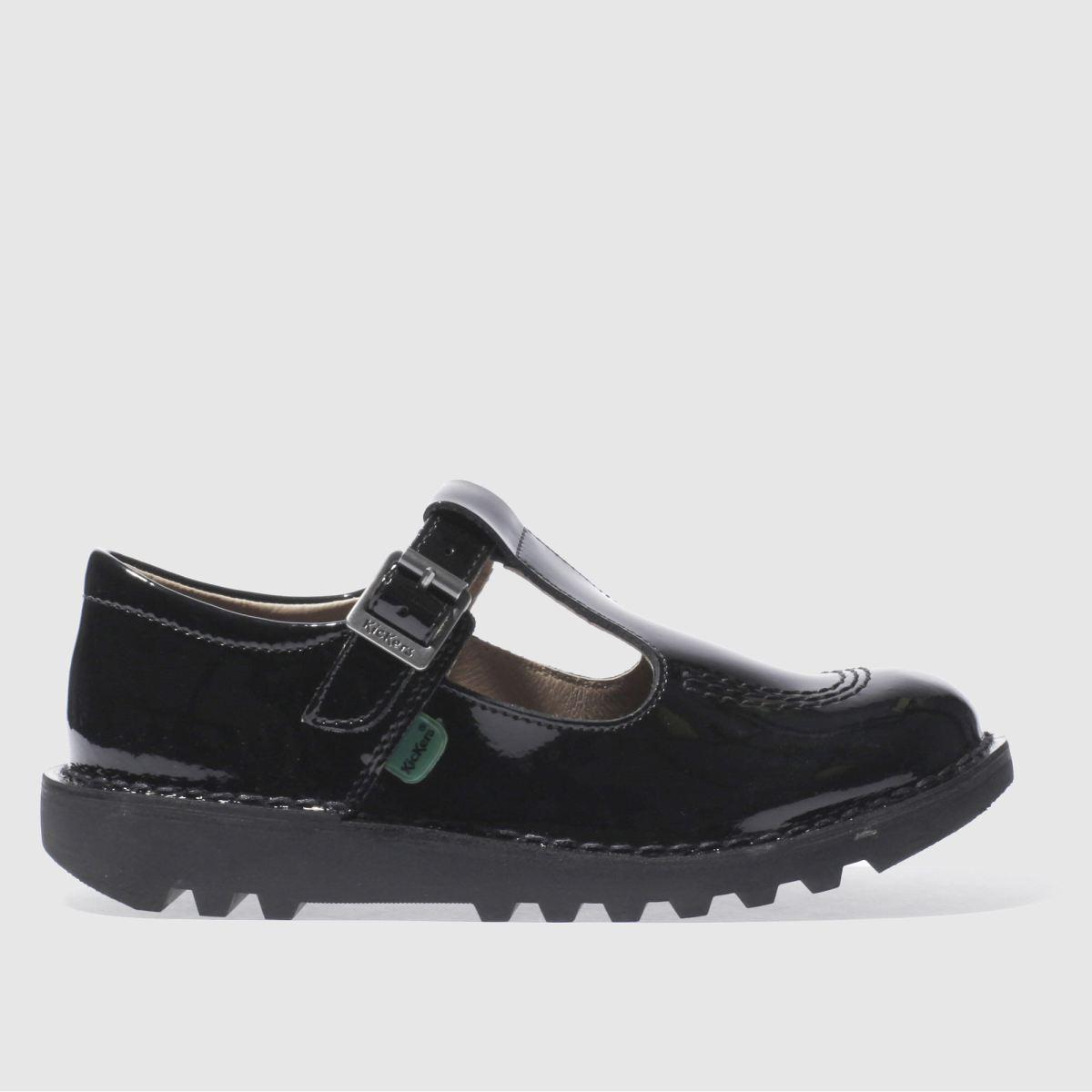 Kickers Black Kick T-bar Shoes Junior