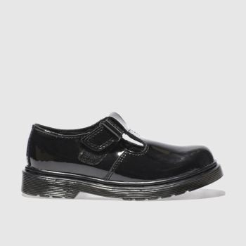 Dr Martens Black Goldie T Bar Girls Junior