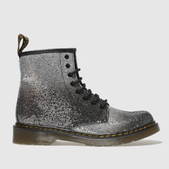 Dr Martens Black & Silver 1460 Glitter Girls Junior