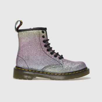 Dr Martens Pink & Lilac 1460 Glitter c2namevalue::Girls Junior