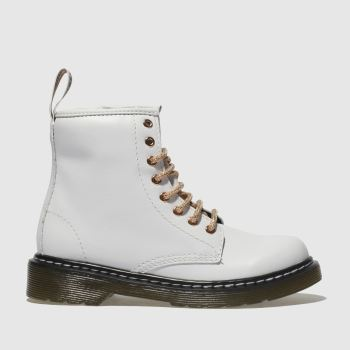 Dr Martens White & Gold 1460 8 Eye Boot Girls Junior