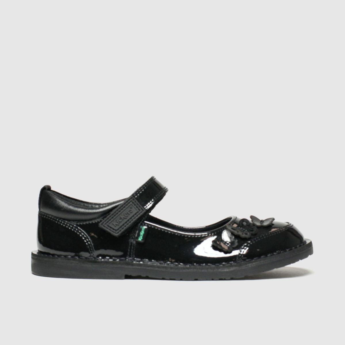 Kickers Black Adlar Flutter Shoes Junior