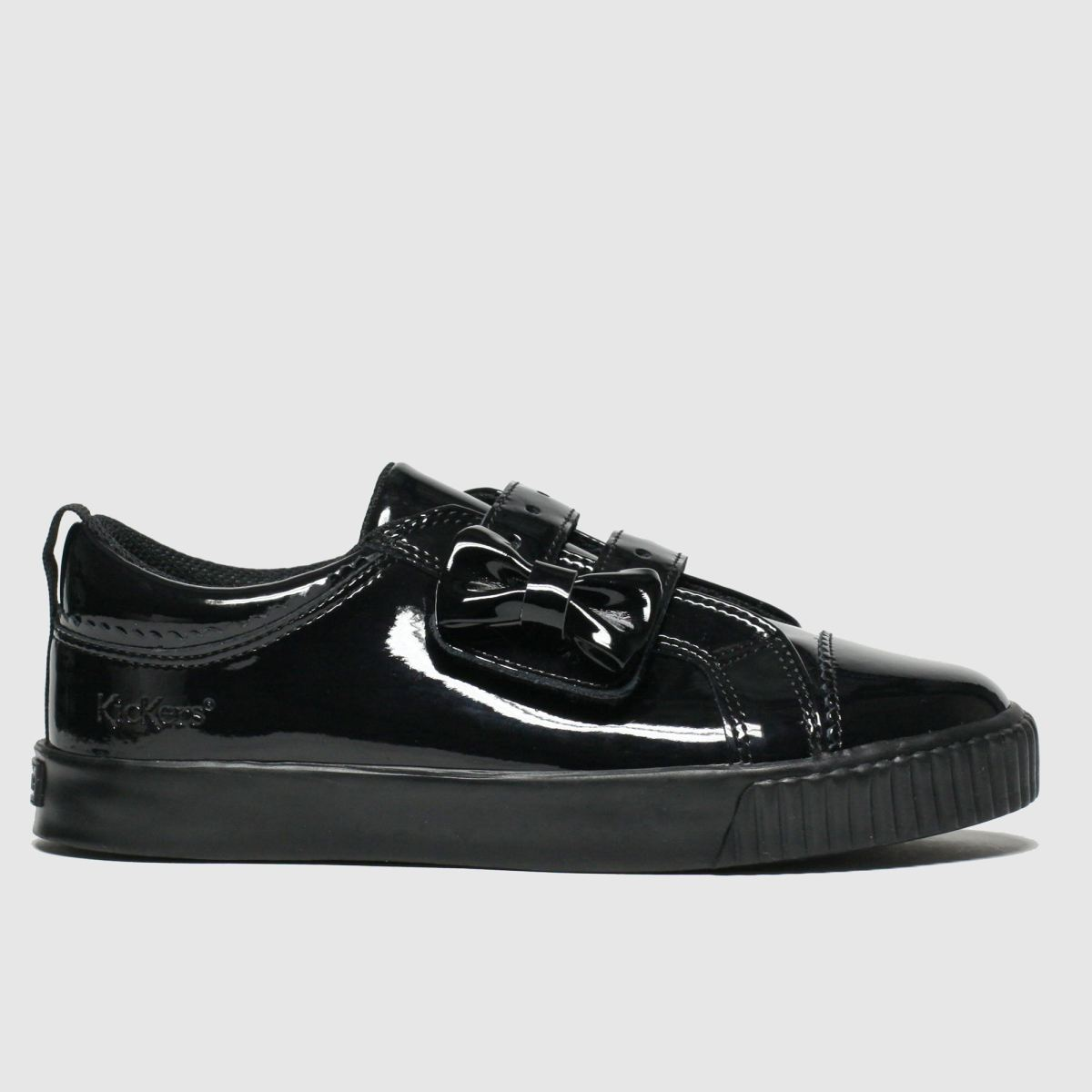 Kickers Black Tovni Lo Bow Shoes Junior