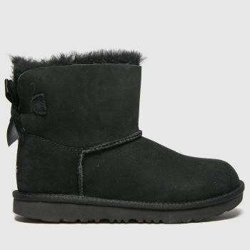UGG Black Mini Bailey Bow Ii Girls Junior