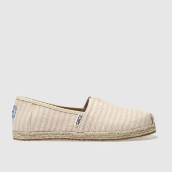 Toms Cream & Pink CLASSIC Girls Junior