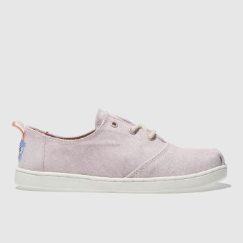 TOMS PALE PINK LUMIN BOOTS JUNIOR