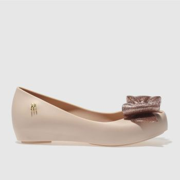MELISSA  PALE PINK ULTRAGIRL SWEET BOW GIRLS JUNIOR SHOES