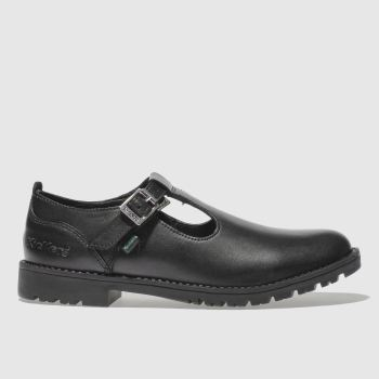 Kickers Black Lachly T Girls Junior