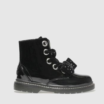 LELLI KELLY BLACK FIOR DI FIOCCO BOOTS JUNIOR