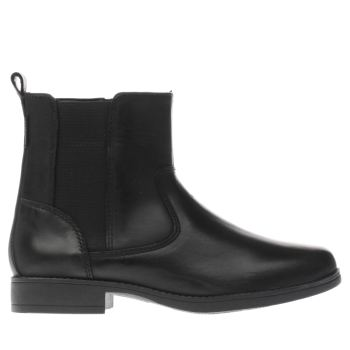 CLARKS BLACK SAMI SO GIRLS JUNIOR BOOTS