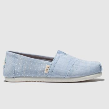 Toms Pale Blue Classic Girls Junior