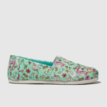 toms light green classic shoes junior