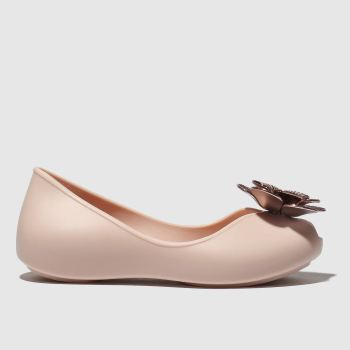Zaxy pale pink flower pearl shoes junior