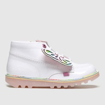 Kickers White Kick Hi Faeries Girls Junior