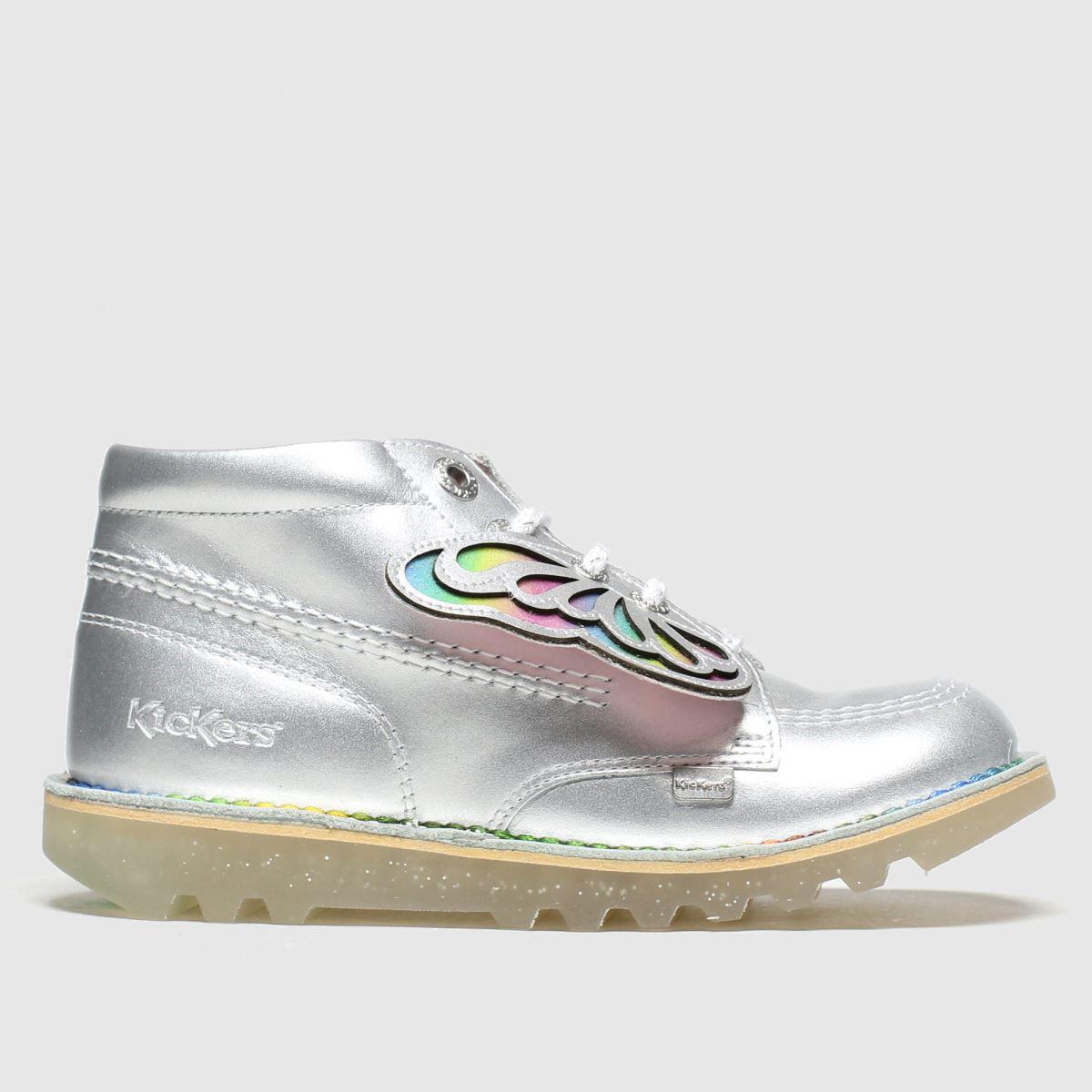 Kickers Silver Kick Hi Faeries Boots Junior