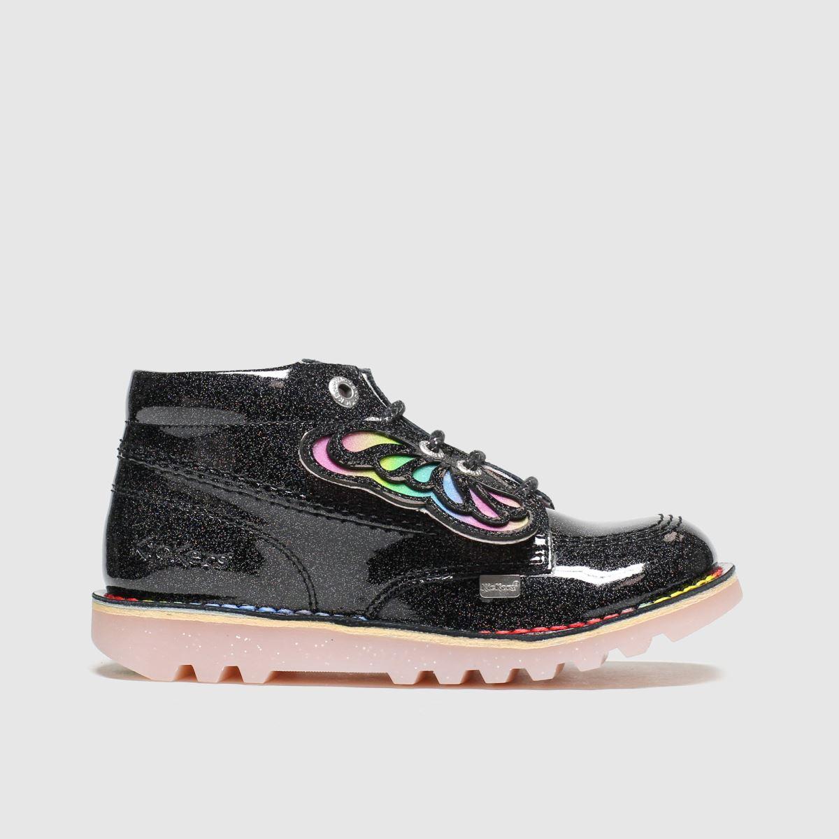 Kickers Black & Silver Kick Hi Faeries Boots Junior
