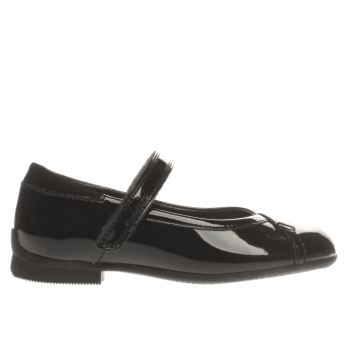 CLARKS BLACK MOVELLO LO GIRLS JUNIOR SHOES