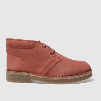 Clarks Originals Pink DESERT Girls Junior