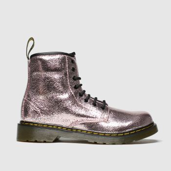 Dr Martens Pink 1460 Crinkle Metallic Girls Junior