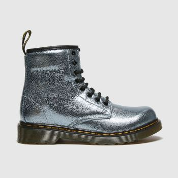 Dr Martens Turquoise 1460 Crinkle Metallic Girls Junior