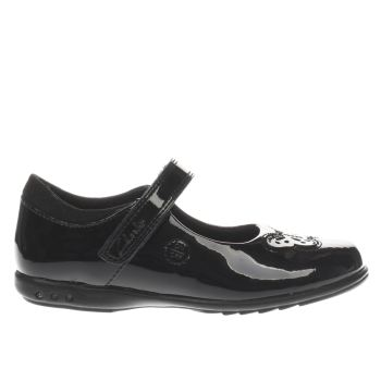 CLARKS BLACK TRIXIE ROSE GIRLS JUNIOR SHOES