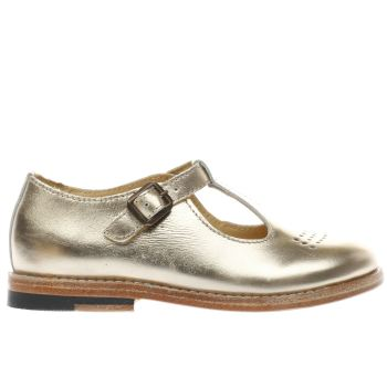 YOUNG SOLES GOLD DOTTIE GIRLS JUNIOR SHOES