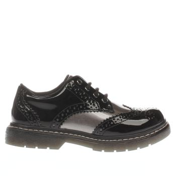 LELLI KELLY  BLACK & SILVER CLELIA GIRLS JUNIOR SHOES