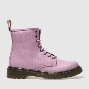Dr Martens Pink Delaney Lace Boot Girls Junior