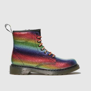 Dr Martens Green & Red 1460 Glitter Girls Junior