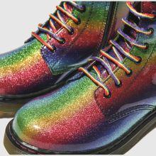 c5ec0f039 Girls green & red dr martens 1460 glitter boots | schuh