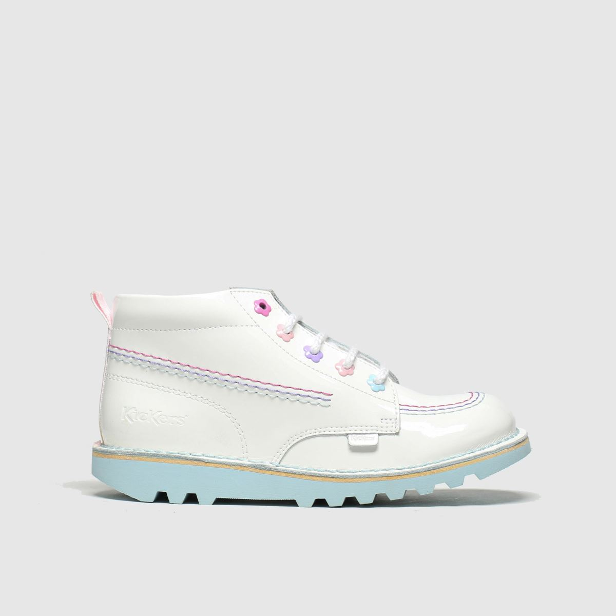 Kickers White Kick Hi Fleur Boots Junior