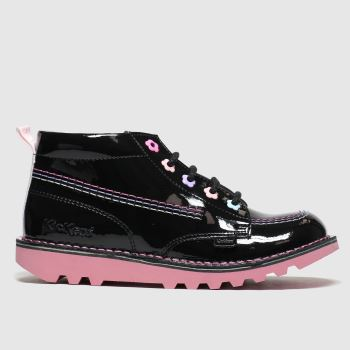 Kickers Black Kick Hi Fleur Girls Junior