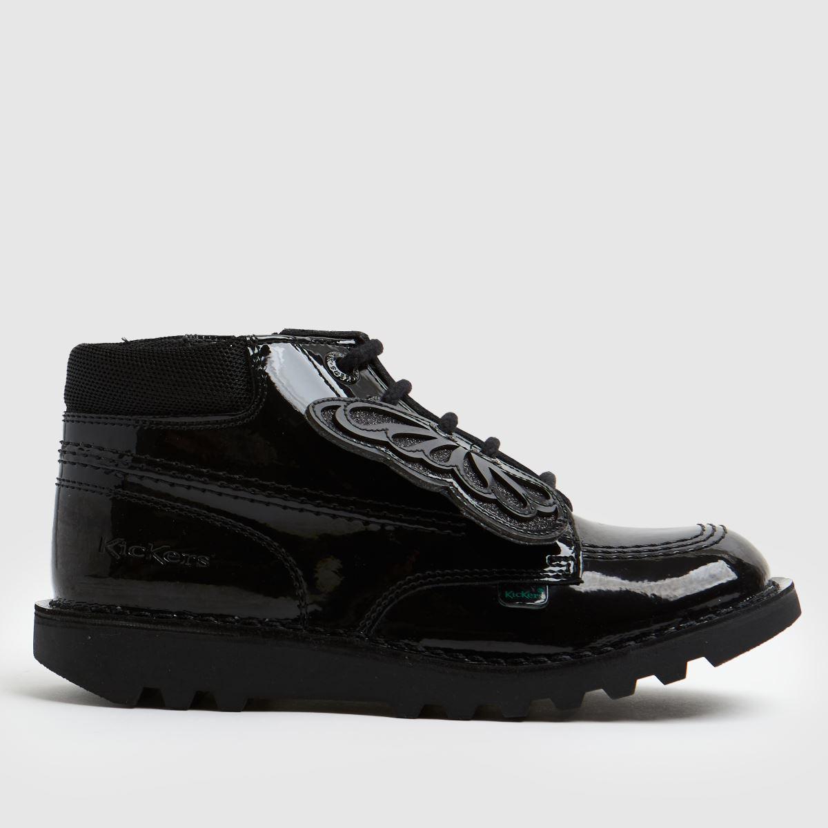 Kickers Black Hi Faeries Split Boots Junior